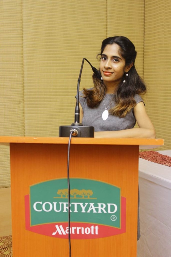 Presenter Nandhini at Courtyard Marriott for a Networking Event