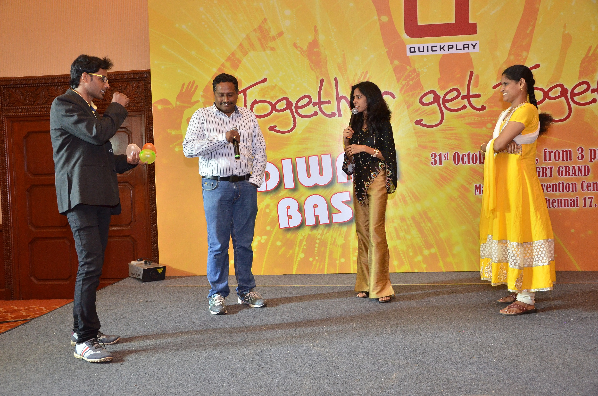 Corporate Emcee Nandhini @ GRT Convention Centre for Qucik Play Media