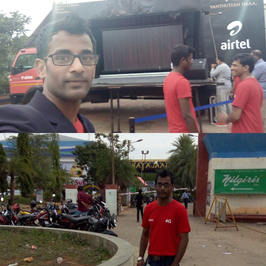 Theater promotions - Airtel - Kabali Promotion