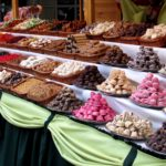 Sweet/candy Stall with different varieties