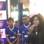 Chennaiyin FC Team & Bollywood Actor Abhishek Bachchan's Meet and Greet Promo session at Phoenix Market City hosted by Chennai MC Nandhini Aravindan